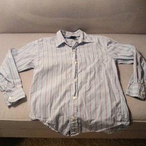 Gap Kids Boys size 8 striped button up shirt
